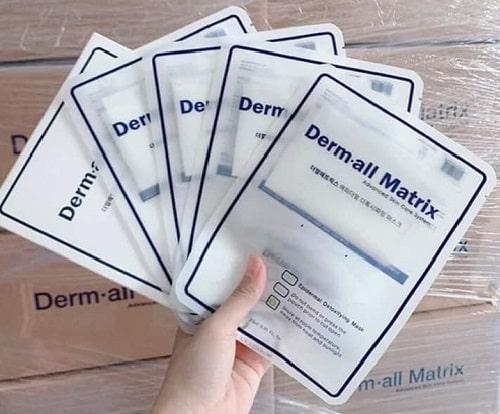 cách sử dụng mặt nạ Derm All Matrix-1