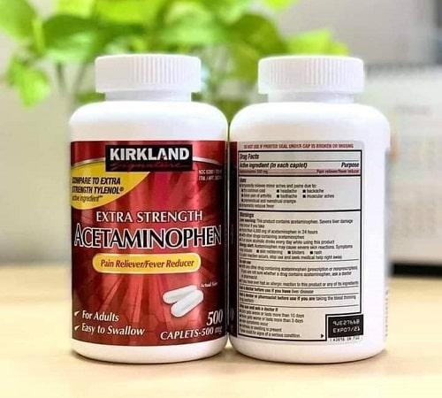 Kirkland Extra Strength Acetaminophen là thuốc gì-4