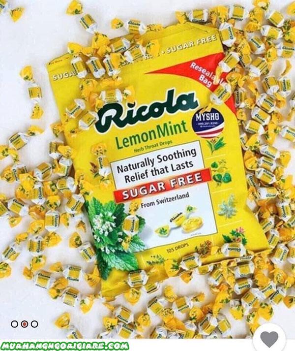 Công dụng của Ricola Lemon Mint Sugar Free