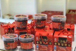 Hồng sâm lát tẩm mật ong Sliced Korea Red Ginseng review-1