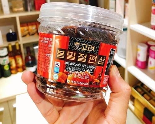 Hồng sâm lát tẩm mật ong Sliced Korea Red Ginseng review-2
