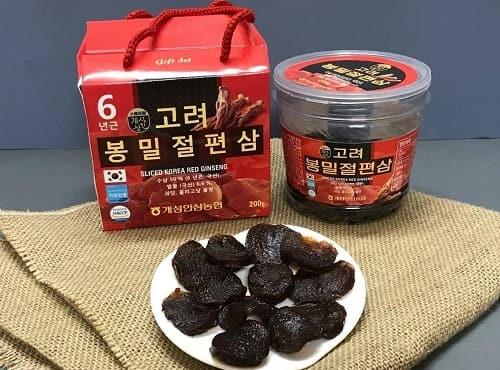 Hồng sâm lát tẩm mật ong Sliced Korea Red Ginseng review-4