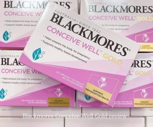 Thuốc tăng khả năng thụ thai Blackmores Conceive Well Gold review-1