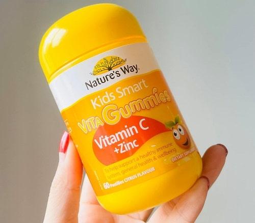 Kẹo dẻo Nature's Way Vita Gummies Vitamin C + Zinc review-2