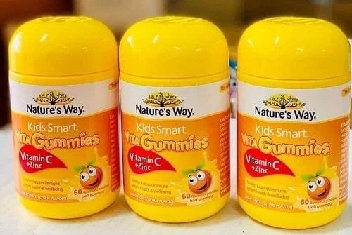 Kẹo dẻo Nature's Way Vita Gummies Vitamin C + Zinc review-3
