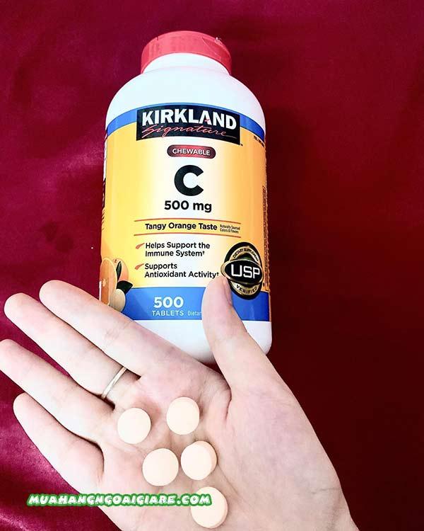 Kirkland Vitamin C 500mg mua ở đâu, giá bao nhiêu tiền